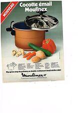 PUBLICITE ADVERTISING  054  1977  MOULINEX   la cocotte émail