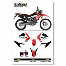 2013-2014 HONDA CRF 250 L  Dirt Bike Graphics kit Motocross Graphics Decal