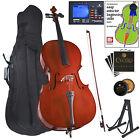 Cecilio 4/4 3/4 1/2 1/4 CCO-100 Student Cello +Tuner+Stand+Lesson Book ~CCO-100