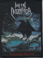 METAL INQUISITOR-DOOMSDAY FOR THE HERETIC- WOVEN PATCH-super rare