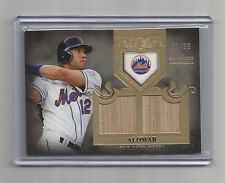2011 TOPPS TIER ONE #TSR-2 ROBERTO ALOMAR BAT CARD #85/99 - NEW YORK METS, HOF
