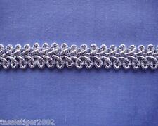 12mm Silver Lurex Gimp Braid