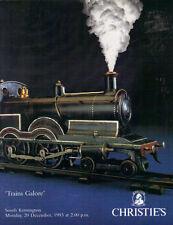 CHRISTIE'S Model Railway Train Bassett Exley Horn Dublo Marklin Wrenn Catalog 93