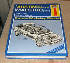 Austin Maestro (Petrol) 1983 to 1992 Haynes Owners Workshop Manual