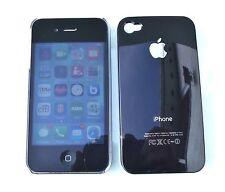 IPhone 4 4S duro caso piel cubierta negro