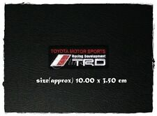 TRD Toyota Motor Sports Racing Development Patch Sew Iron On Embroidered Car New