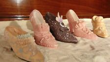 lot of 5 beautiful miniature shoes