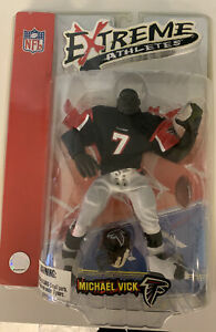 Michael Vick NFL Atlanta Falcons Extreme Athletes Football Figure Black Jersey 7