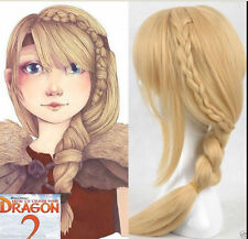 How To Train Your Dragon 2 Astrid Long Braid Cosplay Wig + free wigs cap