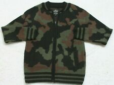 New Sweater XRay Jeans Small Men's Man's Top Long Sleeve Camouflage Green Black