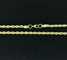 Real 14k Gold Filled Diamond Cut Twisted French Solid Rope Necklace 4mm 30""