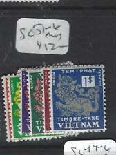 VIETNAM  (PP1704B)  POSTAGE DUE  SC J1-6   MOG