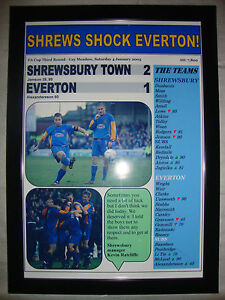 Shrewsbury Town 2 Everton 1 - 2003 FA Cup - framed print