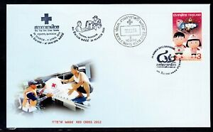 Thailand 2012 FDC Red Cross + extra postmarks