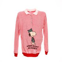 Snoopy Vintage Pullover Größe L Retro Polokragen Langarm Shirt Sweatshirt