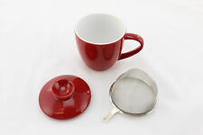 Porcelain Tea Steeper Red (White Interior) 10 OZ by L.Tremain