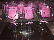 Swarovski Crystal Wine Glass Heart Design