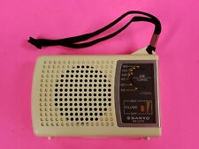 1960S/70S SANYO RP 1270 AM TRANSISTOR RADIO ORIGINAL BOX & EARPHONES