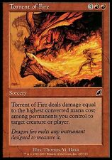 1x FOIL Torrent of Fire Scourge MtG Magic Red Common 1 x1 Card Cards SP