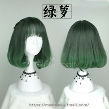 Kawaii Harajuku Sweet Lolita Cosplay Green Gradient Wig Gothic Daily short hair