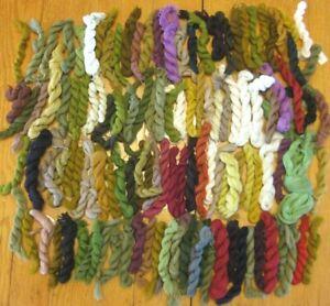 124 Pcs Unbranded Virgin Wool Yarn Needlepoint Embroidery Single Ply Crewel