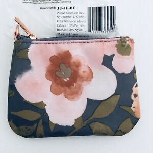 JuJuBe Whimsical Whisper Coin Purse NIP Floral Limited Edition Machine Washable