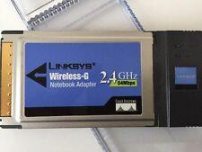 WiFi Adapter Linksys WPC54G Wireless G 2.4GHz PCMCIA Dongle Valentine