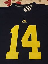 Men's Adidas Michigan University #14 Replica Jersey 2XL NWT