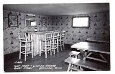 "RPPC photo Turf room Gay El Rancho Gaylord MI.""Clicquot Club"" cowboy wall paper"
