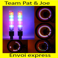 2x Bouchons de Valve Roue Pneu LED Lampe Lumineuse Moto Mobylette Vélo Voiture