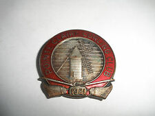 ANTIQUE 1921 POINTE CLAIRE CURLING CLUB ENAMEL BADGE PIN