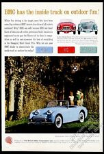 1961 Austin Healey Sprite sky blue car photo 3000 MG MGA vintage print ad