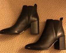 NEW TONY BIANCO BELLO BLACK JETTA POLISH sze 5 Leather Ankle Boots w/gussets