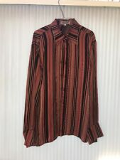 Couture Mens Shirt 100% Polyester Long Sleeve Size L Ships N 24h