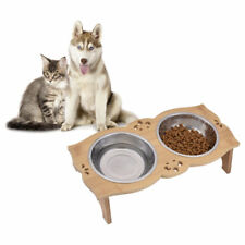 Elevated Stainless Steel Double Pet Dog Bowl Feeding Station Raised Height Stand