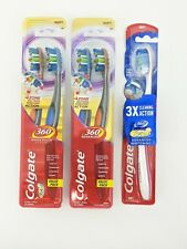 Colgate Advanced 360 Total Cleaning Toothbrush Soft Bristles 5 Brushes 3 Pkgs