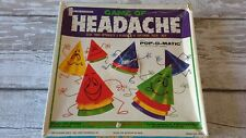 VINTAGE 1968 POP O MATIC KOHNER GAME OF HEADACHE BOARDGAME