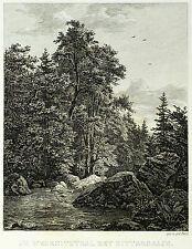 SÄCHSISCHE SCHWEIZ - Wesenitztal bei Dittersbach - Radierung 1833