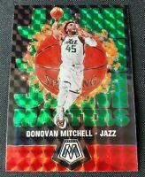 2019-20 Mosaic Donovan Mitchell #7 Mosaic Green Prizm SP Jam Masters Utah Jazz
