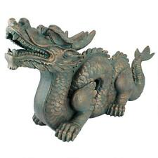Asian Dragon Of The Great Wall Design Toscano Chinese Verdigris Bronze Statue