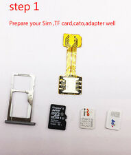 Dual Sim Adapter Karte für Samsung Galaxy S7 S8 Huawei P9 P10 Lite