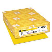 NEENAH PAPER Color Paper 24lb 8 1/2 x 11 Sunburst Yellow 500 Sheets 22591