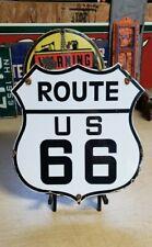 US ROUTE 66 porcelain sign vintage shield highway gasoline