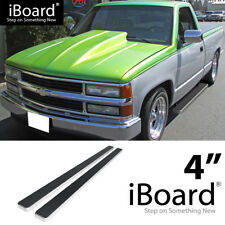 Running Board Side Step 4in Silver Fit Chevy/GMC C/K Pickup Regular Cab 88-98