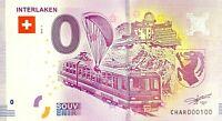 BILLET 0  EURO INTERLAKEN  SUISSE   2018 NUMERO 100