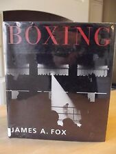BOXING table book LARGE HARDCOVER James A. Fox 1st edition great pictures NICE!