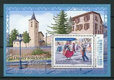 French Andorra 2017 MNH Dance Ball de Bastons La Massana 1v M/S Cultures Stamps