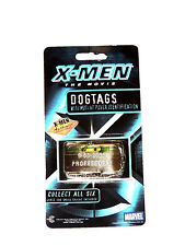 NEW X-MEN~ PROFESSOR X ~DOG TAGS AUTHENTIC COLLECTIBLE MARVEL 2000 NICKEL PLATED