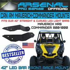"CAN AM MAVERICK COMMANDER 42"" UPPER LIGHT BAR MOUNT PRO RACE KIT 800 1000"