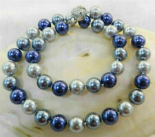 Beautiful 8mm Multicolor South Sea Shell Pearl Necklace 18'' AAA